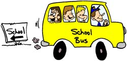 school bus cartoon