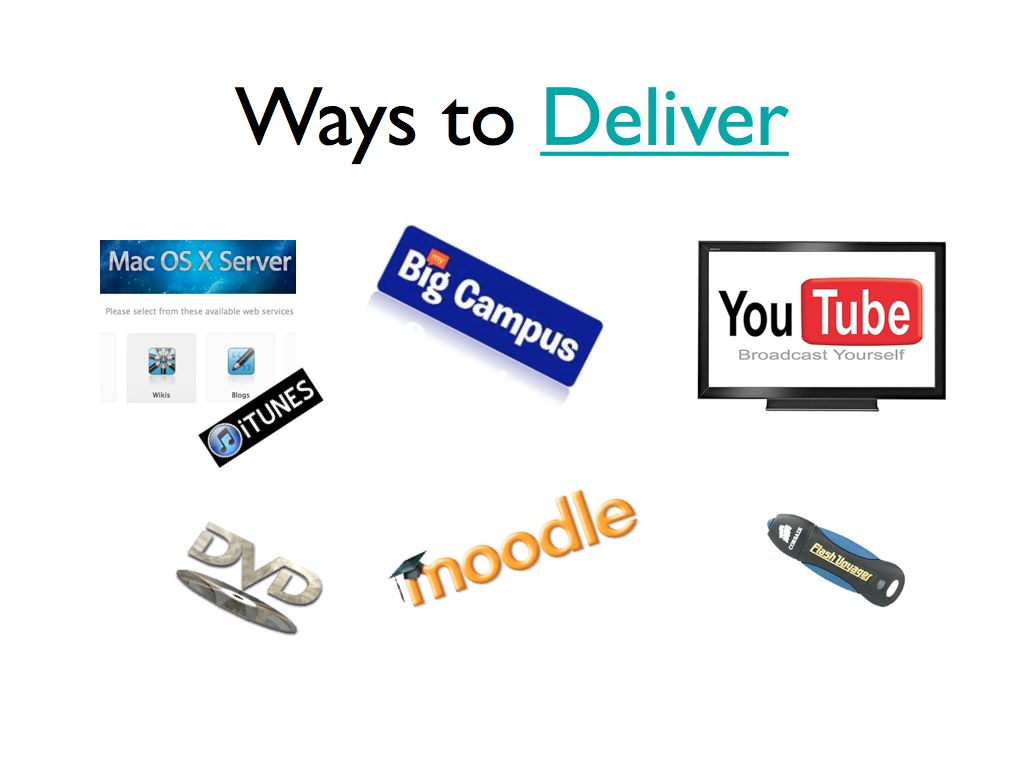 Ways to Deliver sites