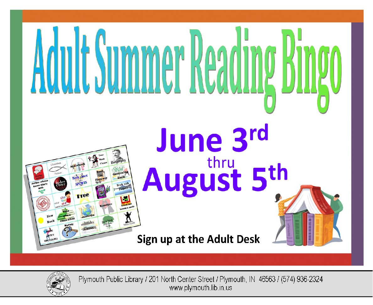 2017 CC PBL Adult Summer Reading Bingo