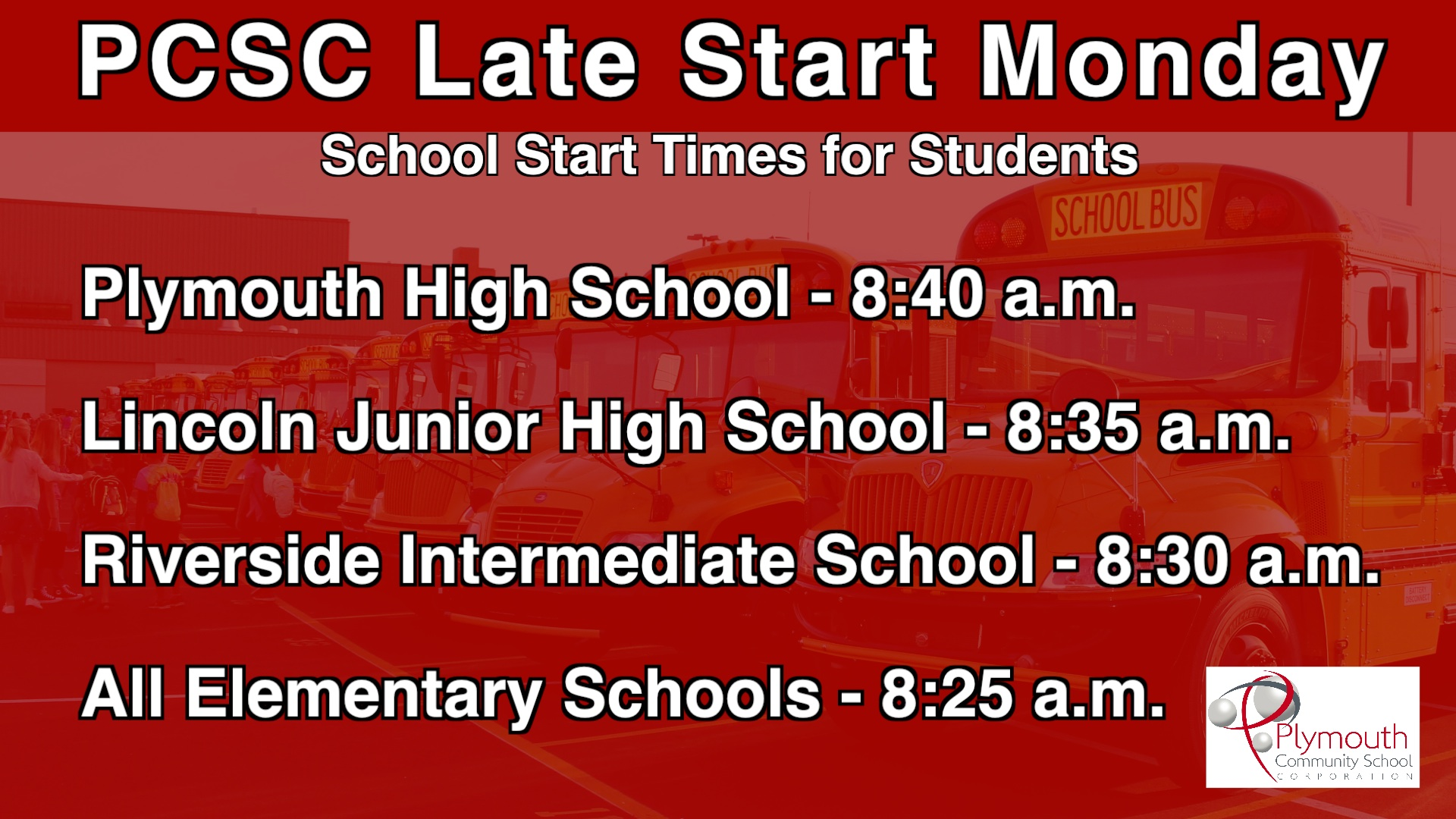 PCSC Late Start Mondays Information