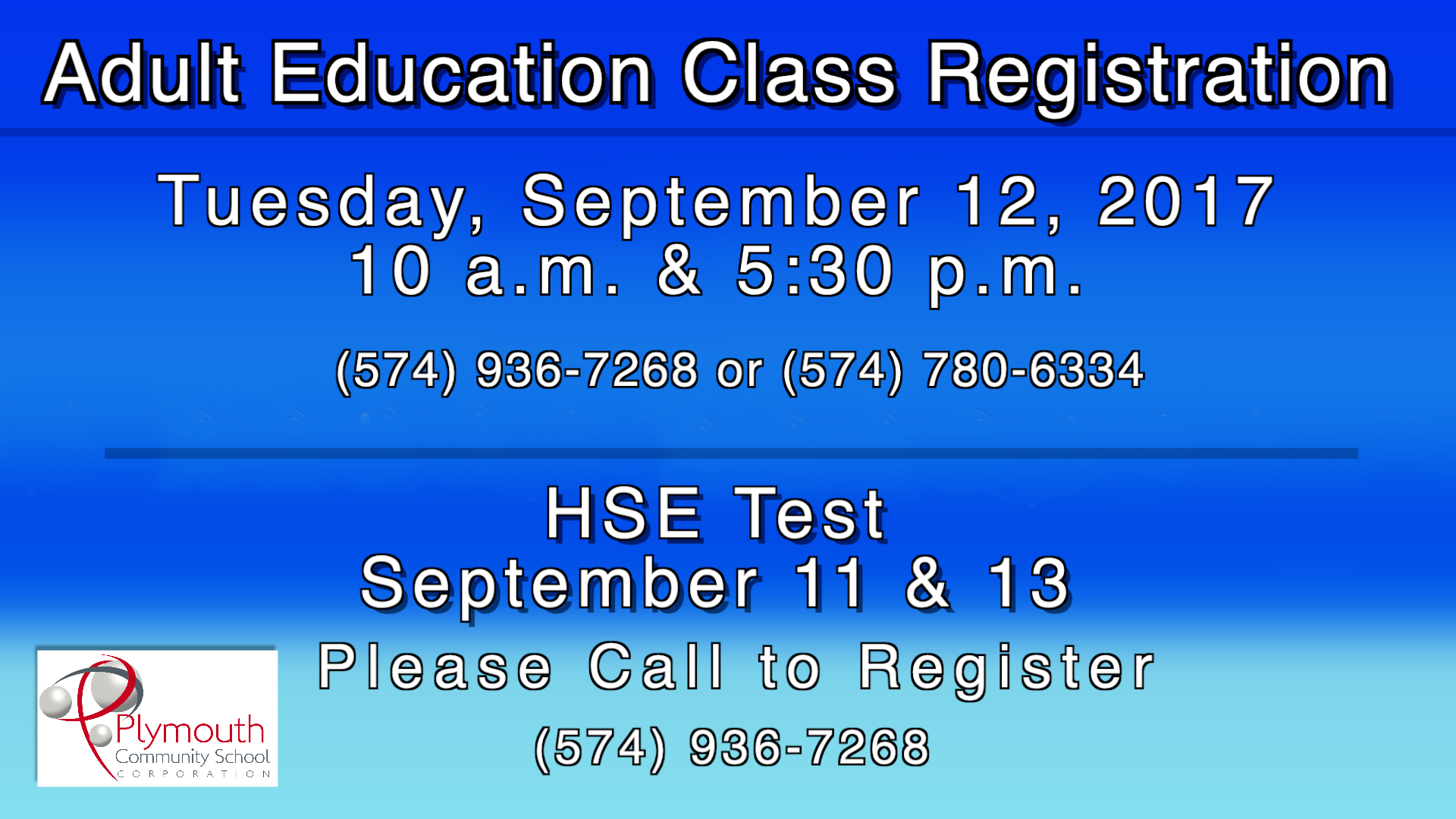 Adult Education Testing Dates