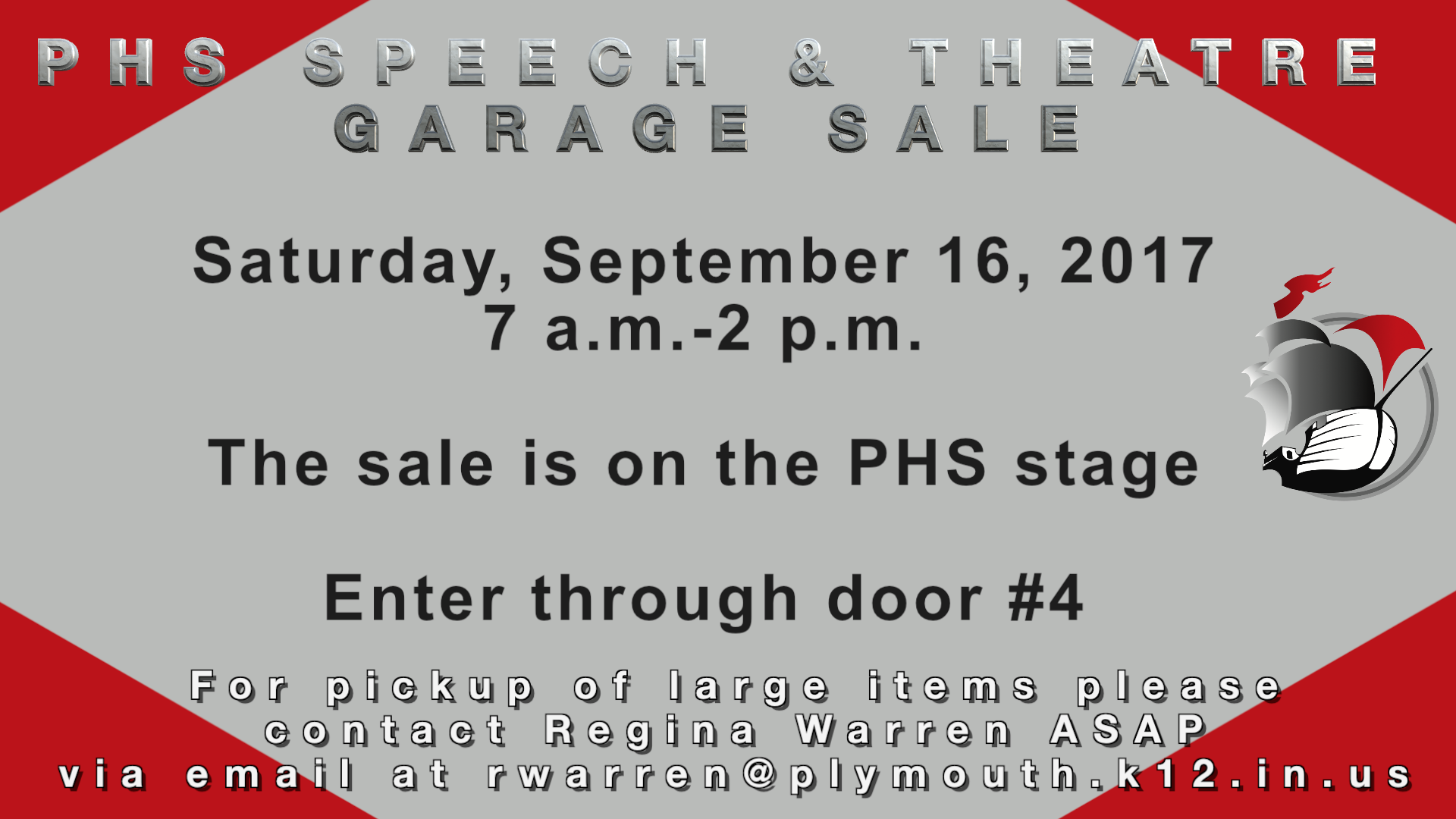 PHS Speech and Theatre Garage Sale