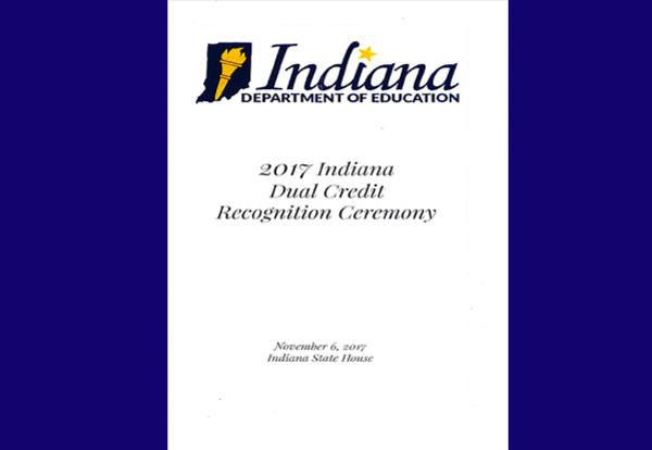 Plymouth High School Recognized at 2017 Indiana Dual Credit Recognition Ceremony