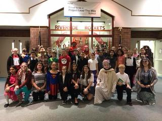 Riverside students dressed up as literary characters.