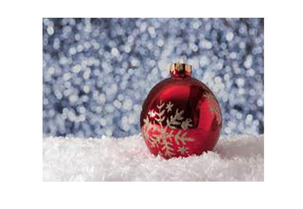 Christmas ornament on snow image
