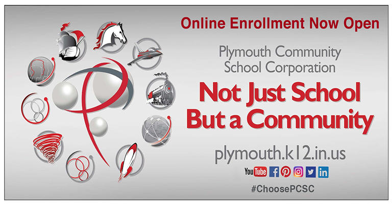 Online Enrollment Now Open - Plymouth Community School Corporation