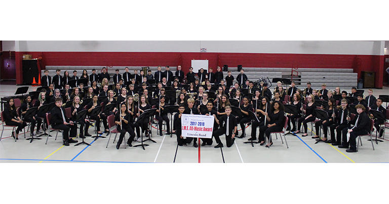 Lincoln Junior High School ISSMA All-Music Award