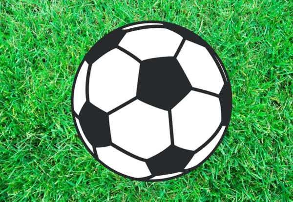 soccer ball image on grass background