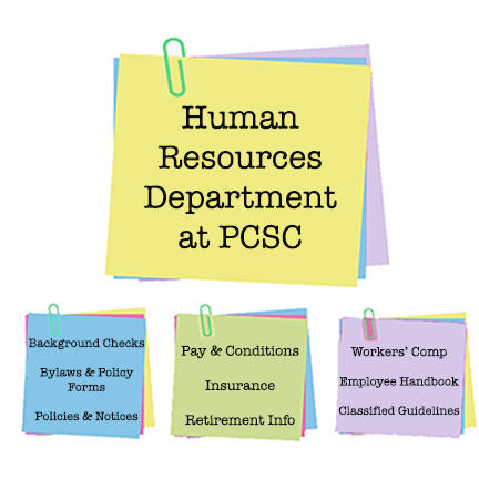Human Resource Department at PCSC post-it note images