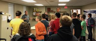 PHS students at a local business for manufacturing day.