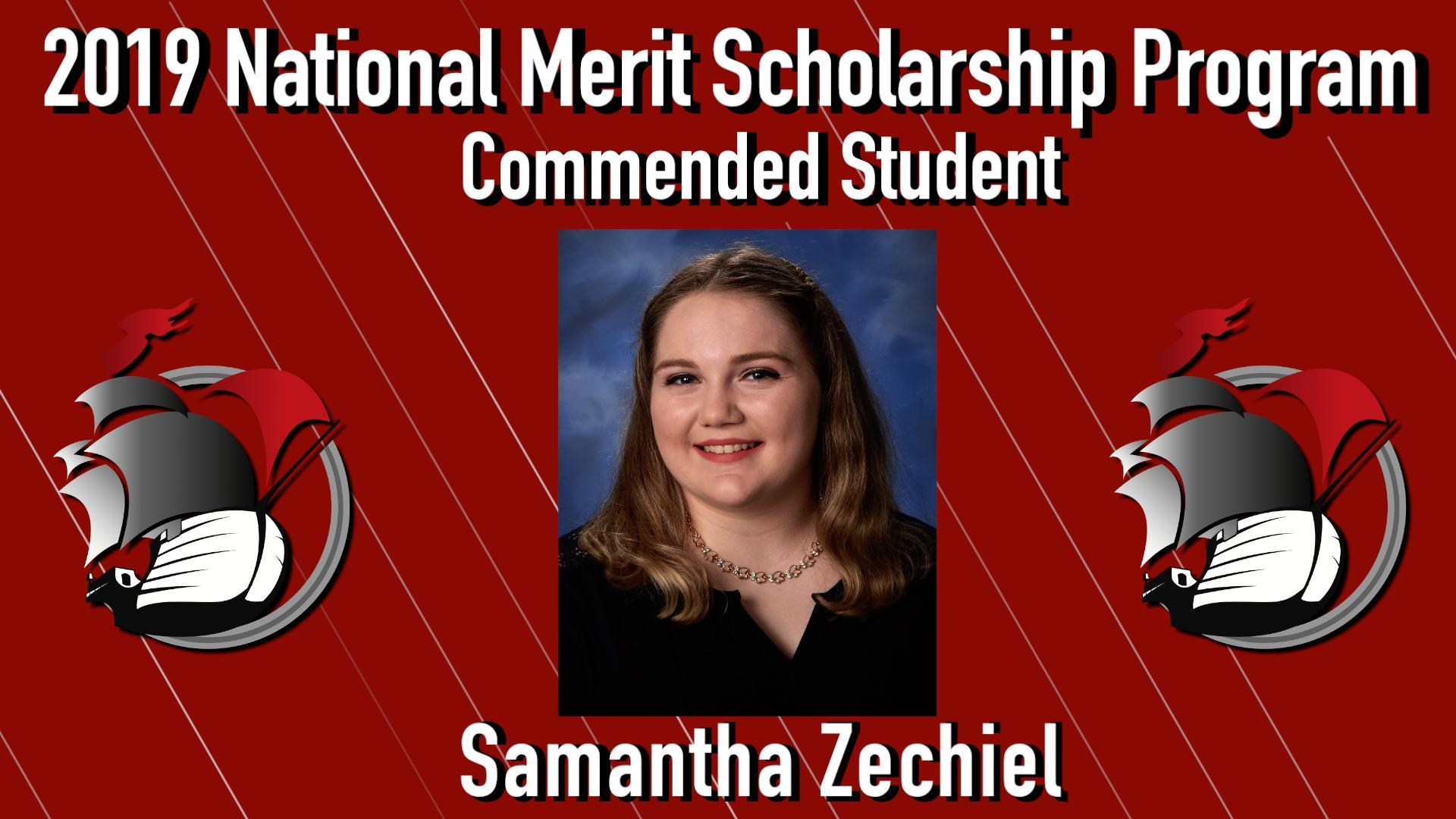 PHS Senior Samantha Zechiel Named National Merit Scholarship