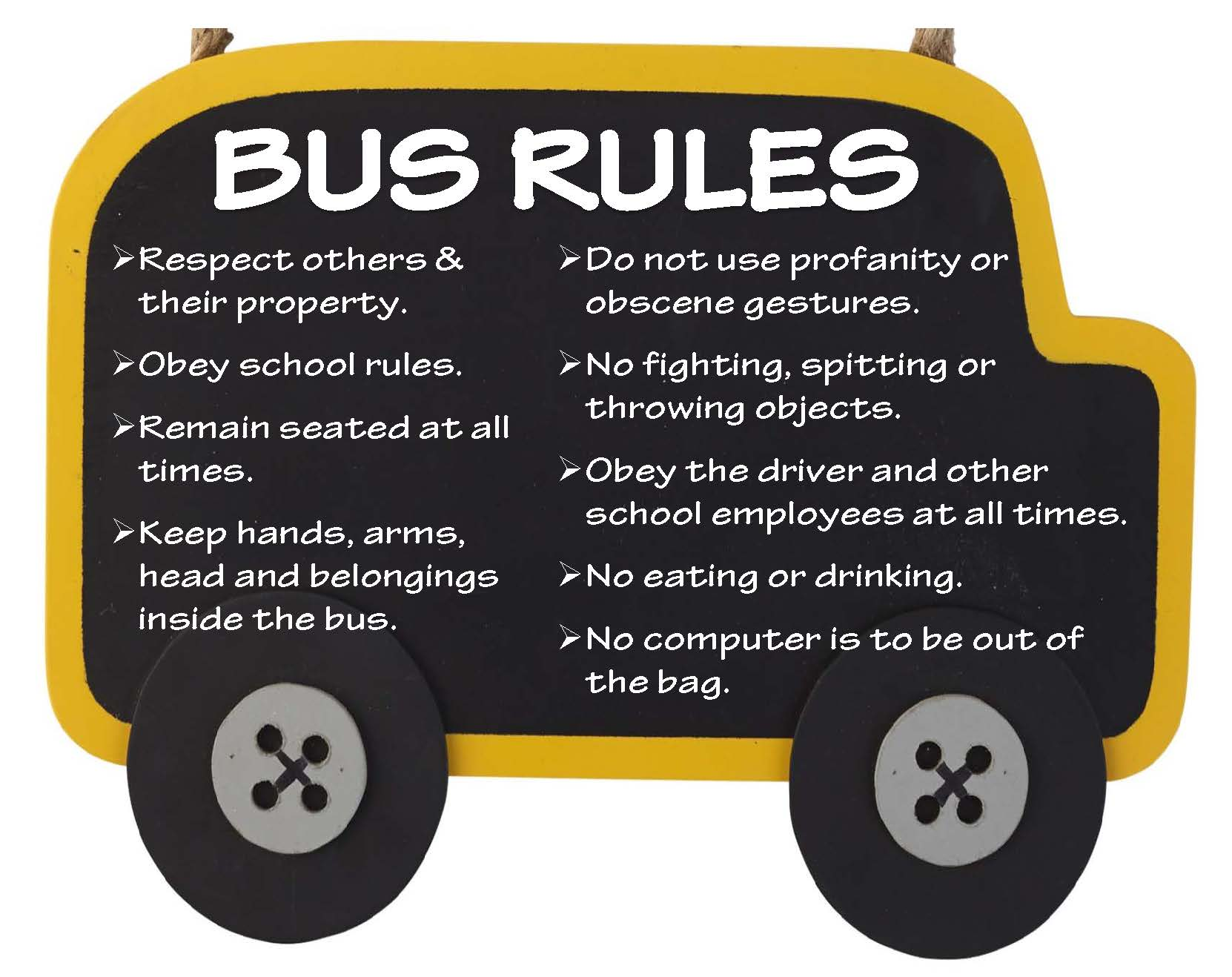 photograph about Printable School Bus Rules titled Transport Departments