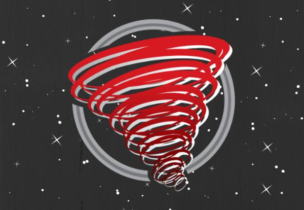 Red Storm Logo on black-starred background