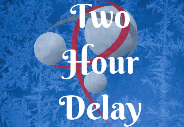 Two-Hour Delay on snowy background and P logo