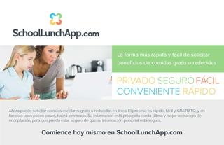 Spanish version of SchoolLunchApp.com Logo