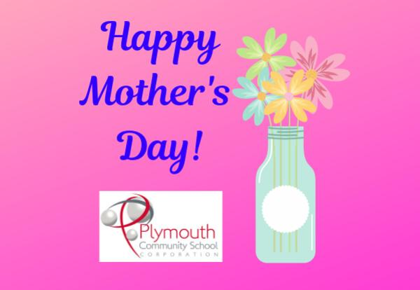 Happy Mother's Day! with flower vase and PCSC logo