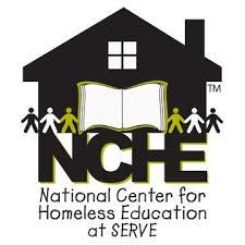 NCHE National Center for Homeless Education at SERVE logo with house image and people