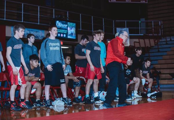 Coach Read and wrestlers