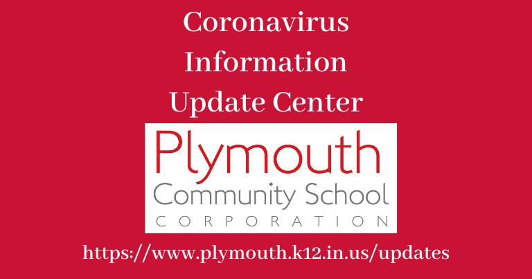 Coronavirus Information Update Center with PCSC Logo on red background