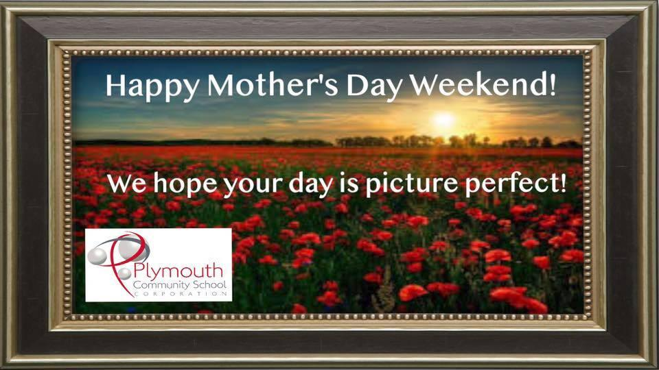 Happy Mother's Day Weekend! We hope your day is picture perfect! on roses picture and frame with PCSC logo