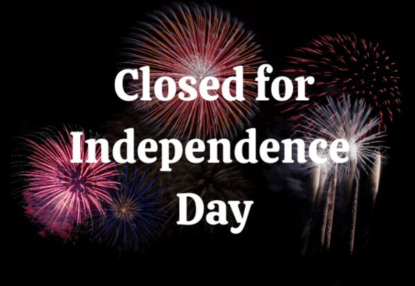 PCSC Closed for Independence Day 2020