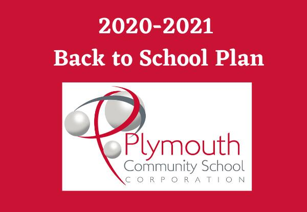 2020-2021 Back to School Plan with PCSC logo on red background