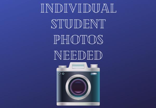 Individual Student Photos Needed with camera image
