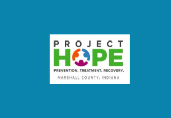 Project HOPE Logo - Prevention, Treatment, Recovery-Marshall County, Indiana