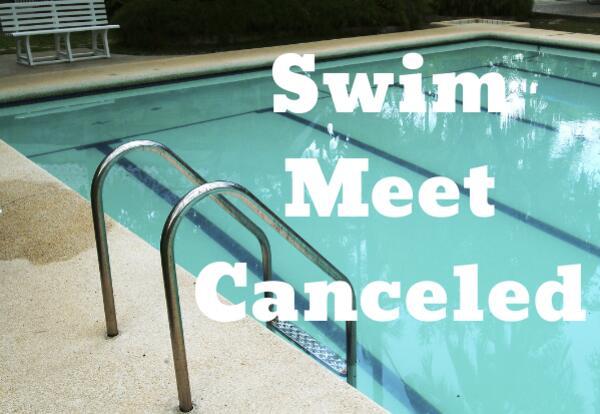 Swim Meet Canceled with pool image