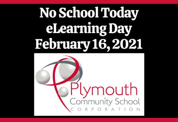 No School Today eLearning Day February 16, 2021 with PCSC logo