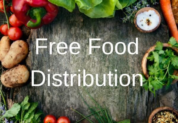 Free Food Distribution Image with vegetables