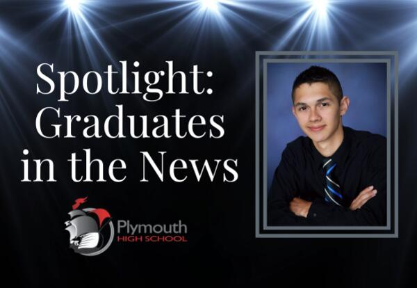 Spotlight: Graduates in the News with PHS logo and Austin Richey photo