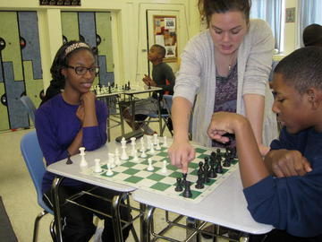 Students Playing Chess game