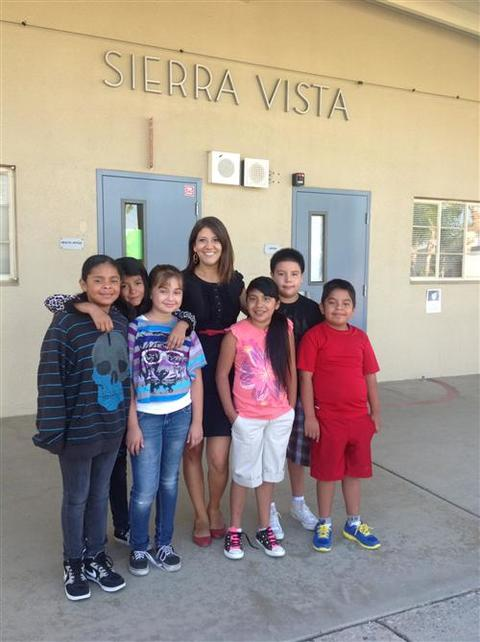 Ms. Dorado with Students