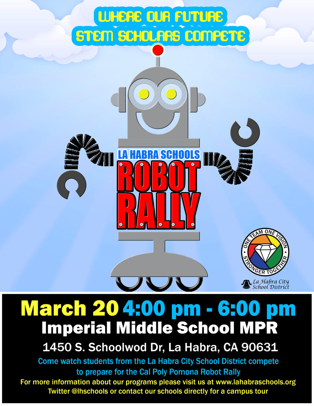 Second Annual Robot Rally - March 20 at IMS | La Habra City