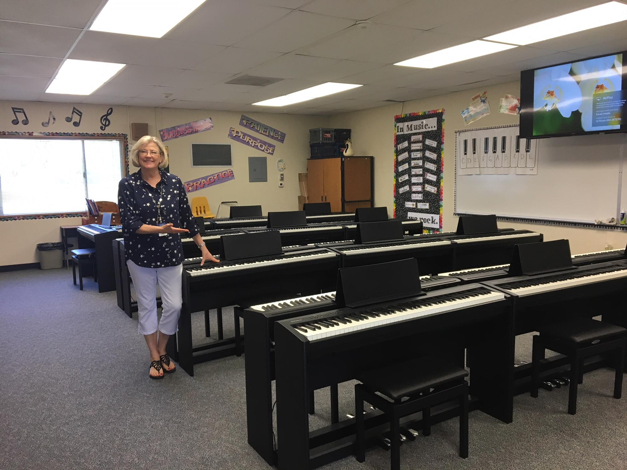 Our new piano lab