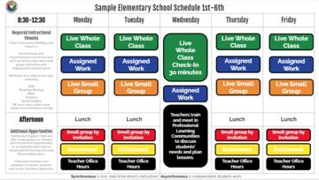 School Hours Virtual Model - Grades 1-6