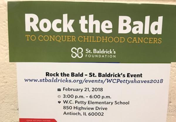 GLS NJHS Promotes Rock the Bald Event!
