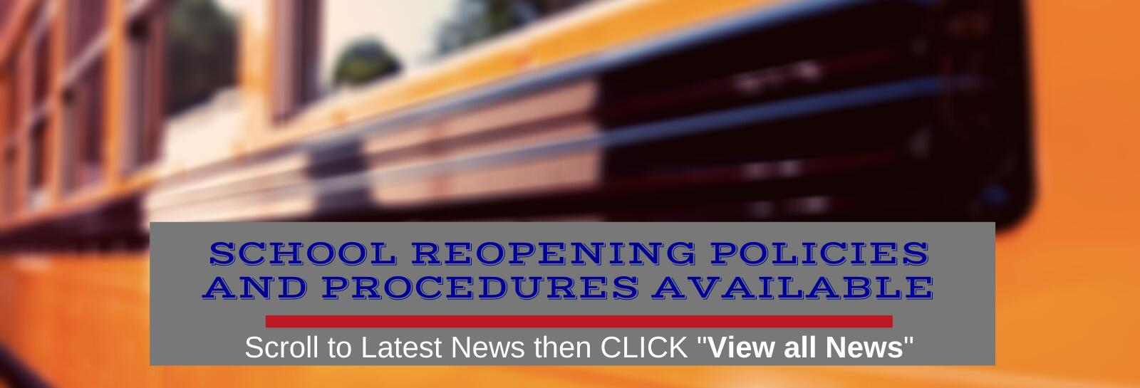 Reopening School Policies & Procedures