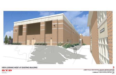 LHS Pool Rendering - View Facing West
