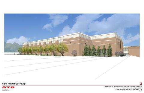 LHS Pool Rendering - View from Southeast