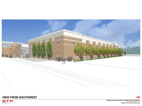 LHS Pool Rendering - View from Southwest
