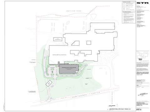 LHS Pool Composite - Site Plan Phase I and II