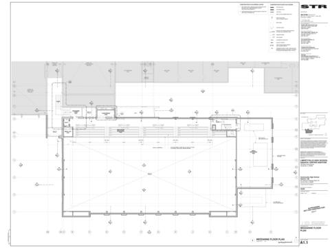 Schematic of the LHS Pool Project Mezzanine Floor Plan