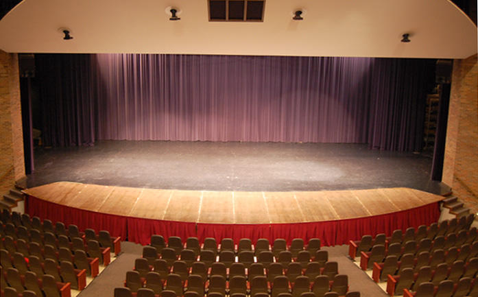 view of the Auditorium stage from the balcony