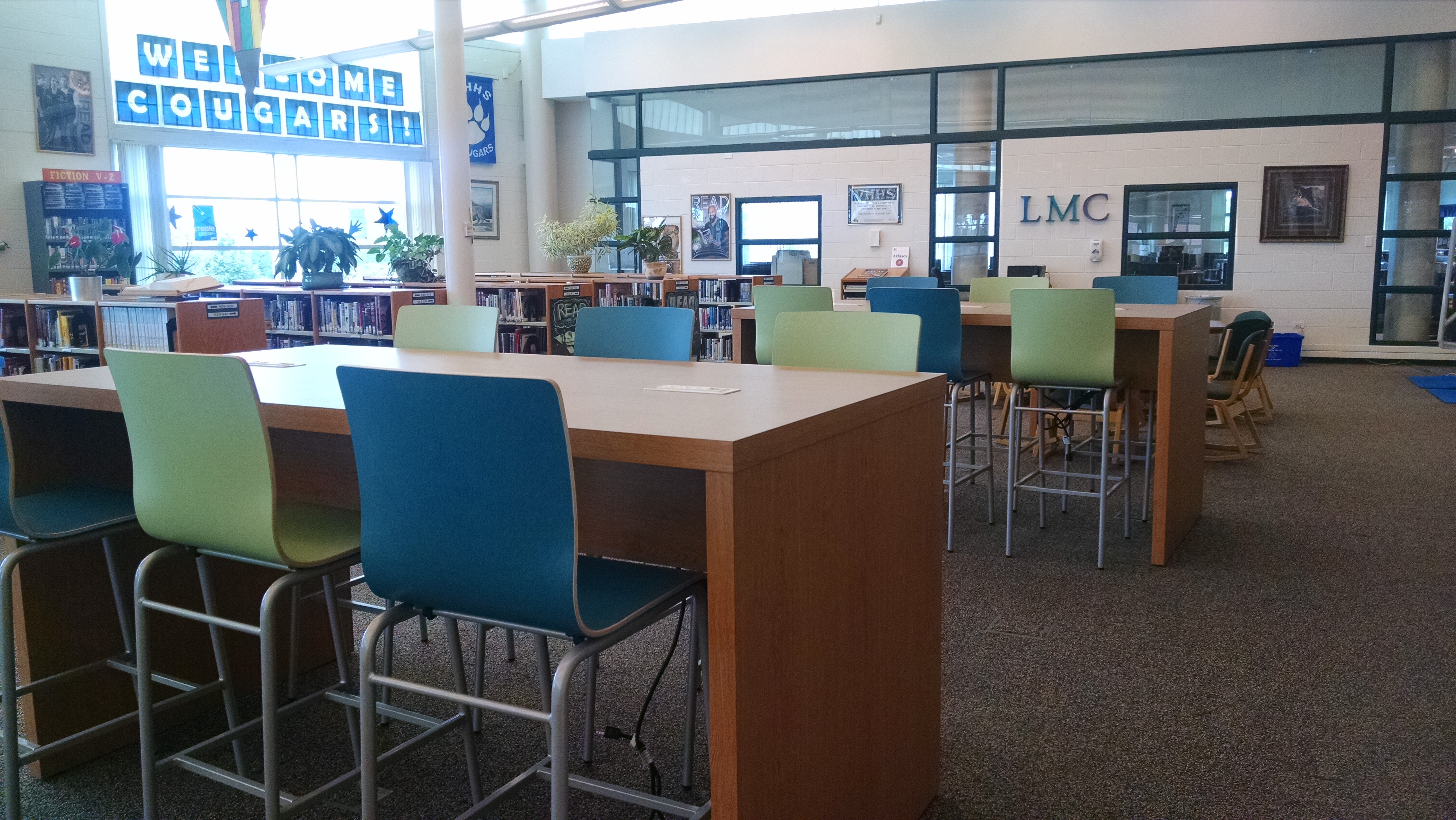 Library Media Center is a drop-in resource center for students with study halls.