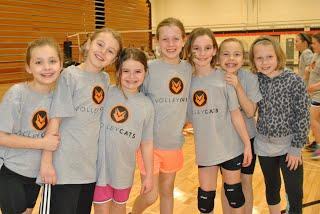 Members of the volleycats team