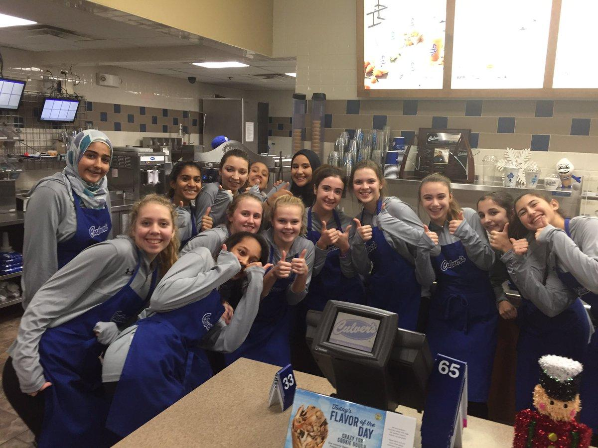 Freshmen at Culver's Fundraiser