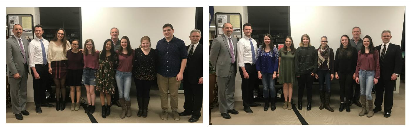 Photo collage of VHHS student musicians being recognized at the February Board of Education Meeting.