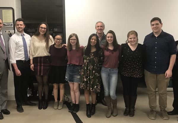 Board Recognizes VHHS Music Students